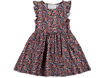 Платье в цветочек 5/8 лет красное 321506